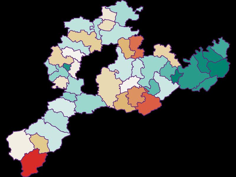 Демография с 1869 года в Sankt Pölten(Land)