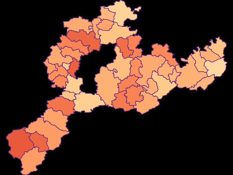 Размер домохозяйства в Sankt Pölten(Land)
