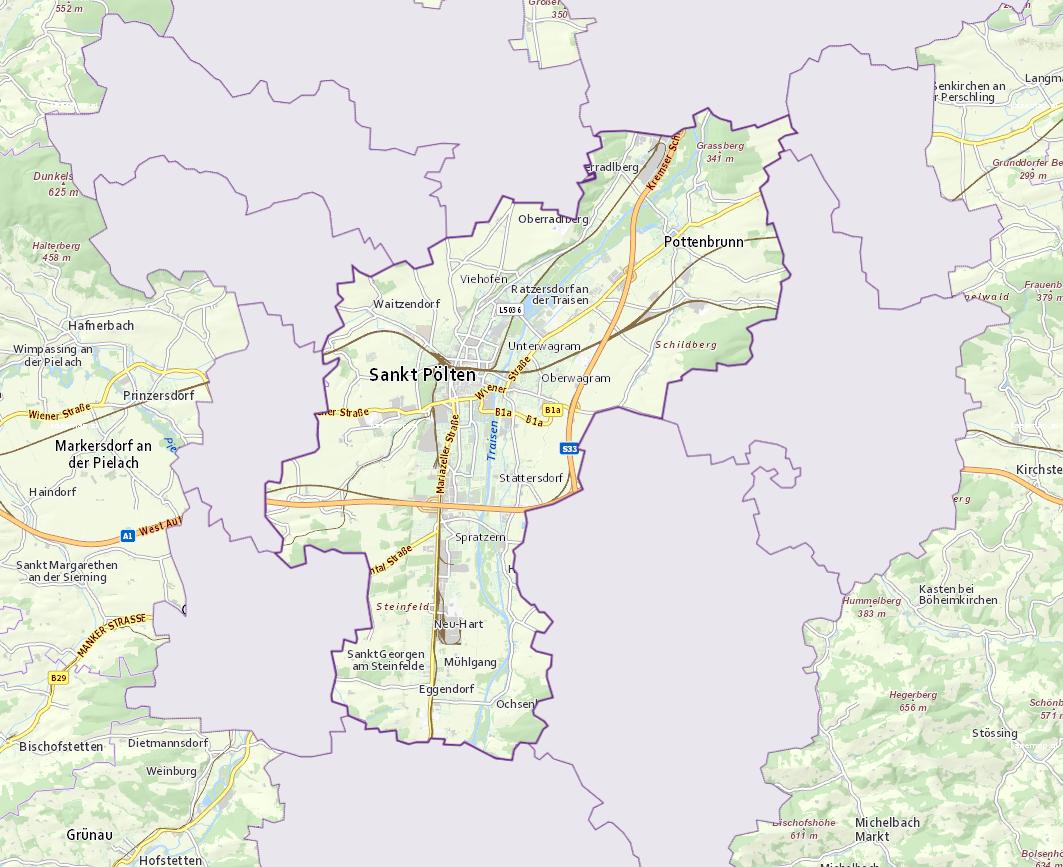 St. Pölten - Niederösterreich - Geographie, Wirtschaftskunde, Statistik | Similio