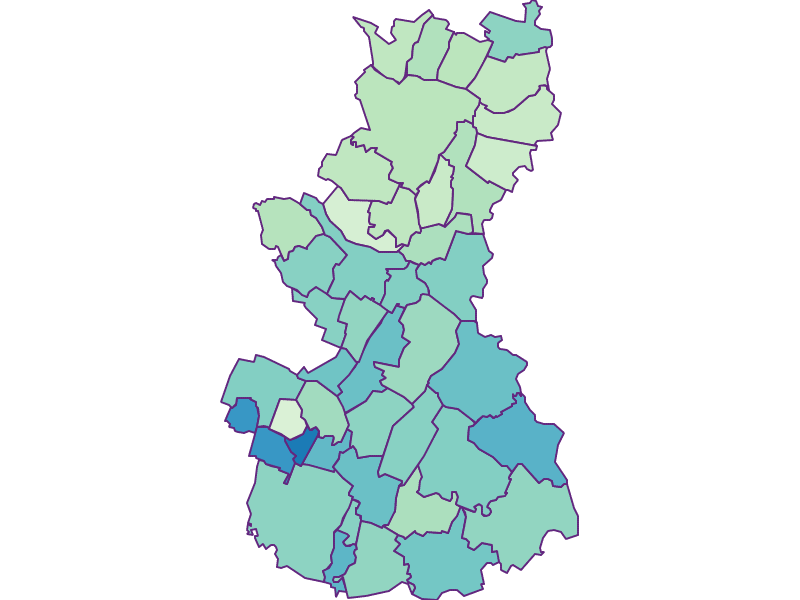 Share of foreigners in Gänserndorf