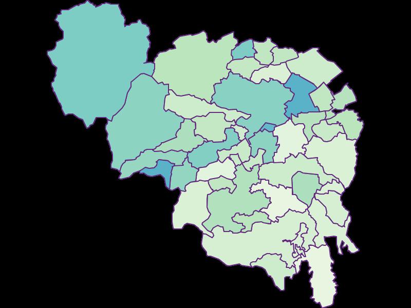 Доля иностранцев в Neunkirchen