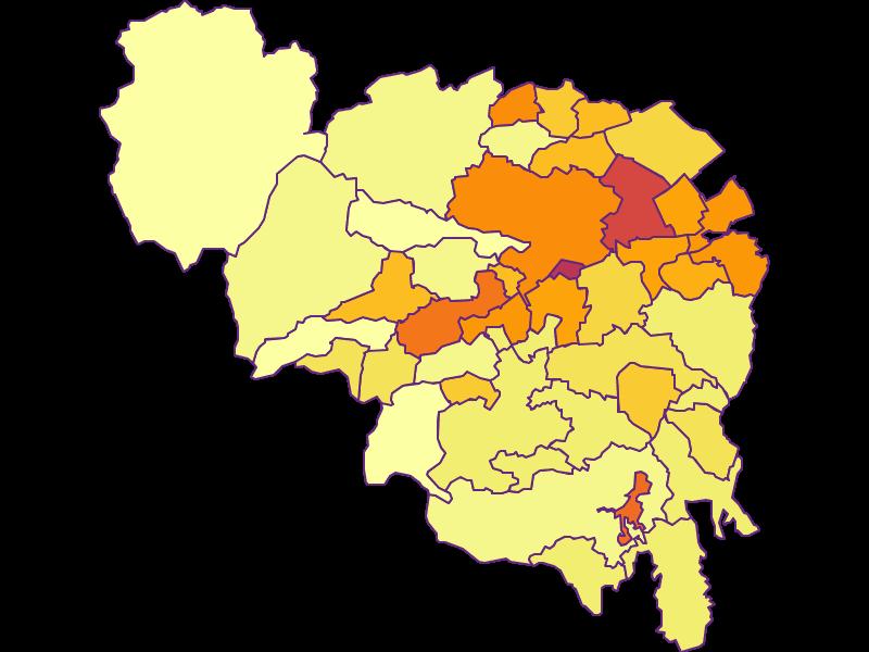 Плотность населения в Neunkirchen