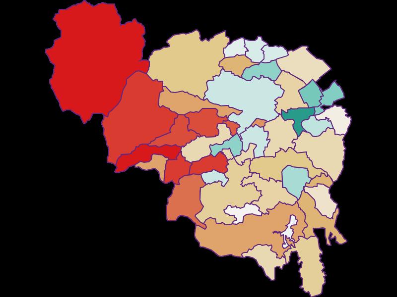 Демография с 1900 года в Neunkirchen
