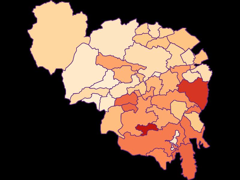 Размер домохозяйства в Neunkirchen