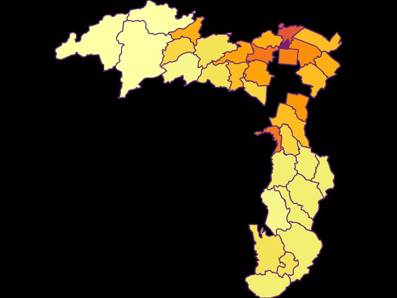 Плотность населения в Wiener Neustadt(Land)
