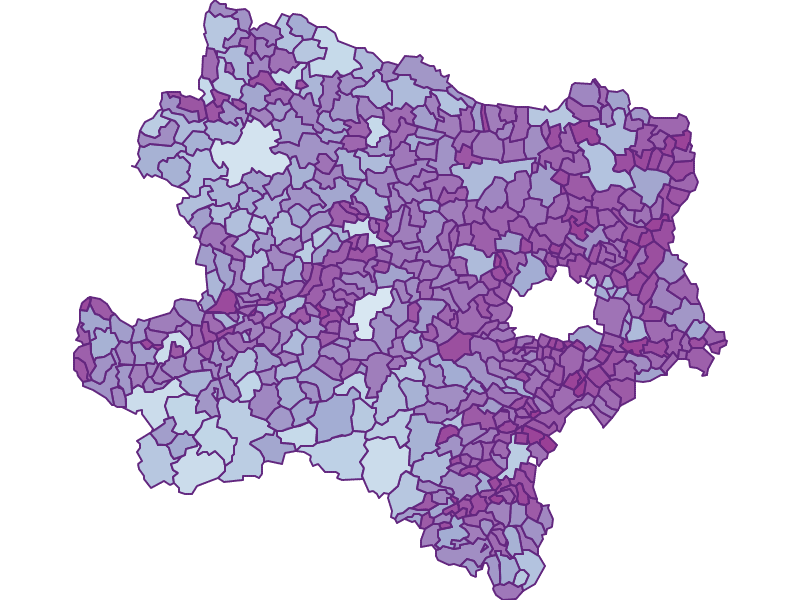 Commuters: Lower Austria - Austria - Geography, business and economics, statistics | Similio