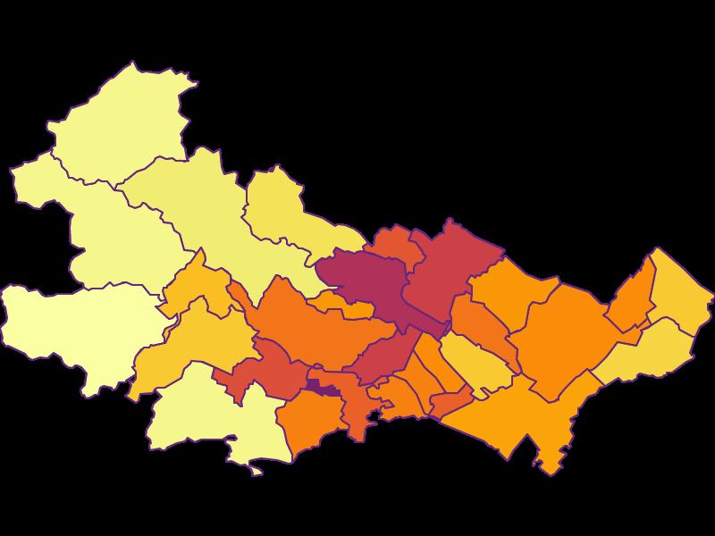 Bevölkerungsdichte in Baden