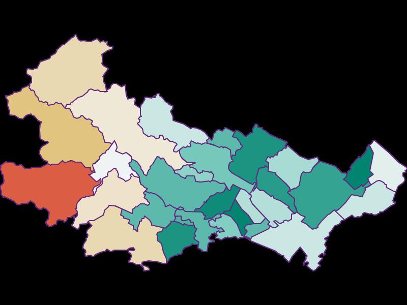 Bevölkerungsentwicklung seit 1869 in Baden