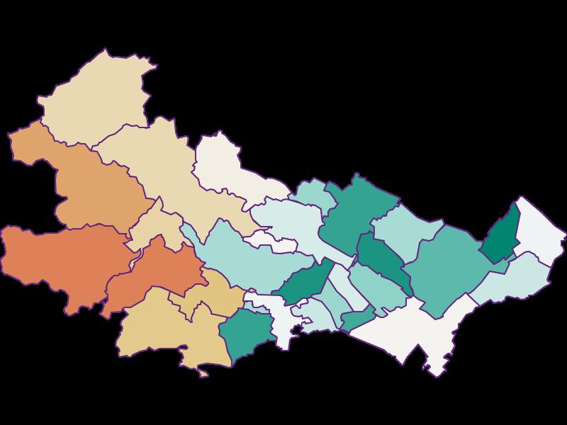 Демография с 1900 года в Baden