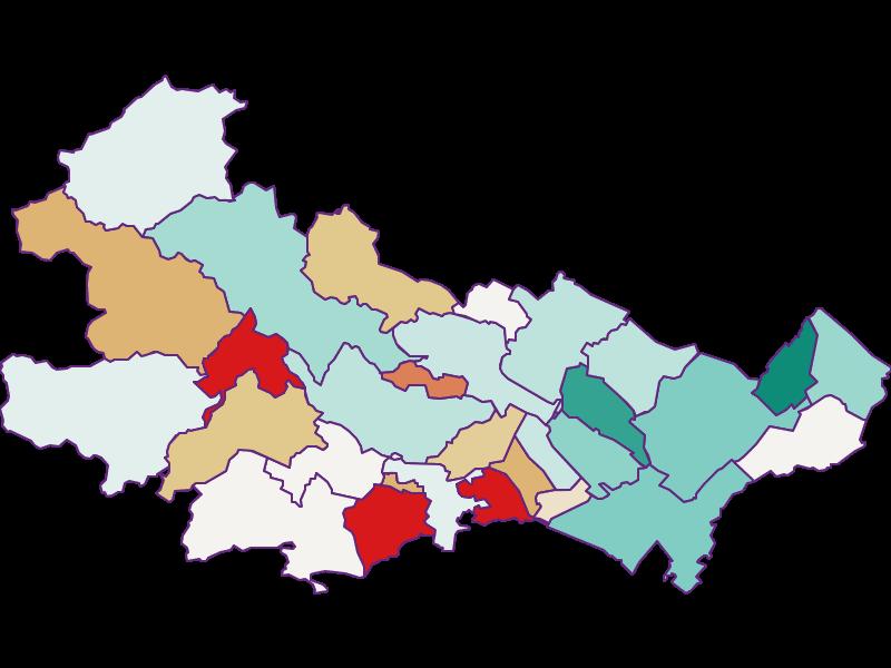 Bevölkerungsentwicklung seit 2011 in Baden