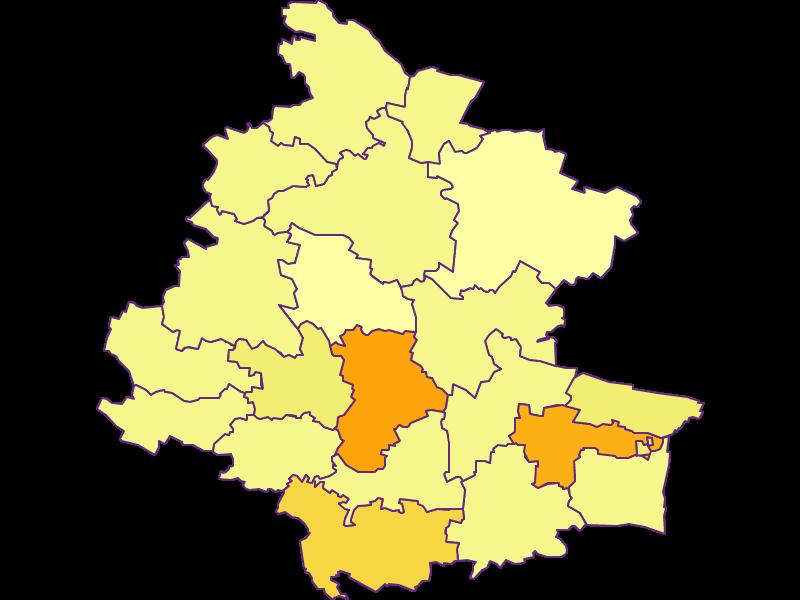 Плотность населения в Horn