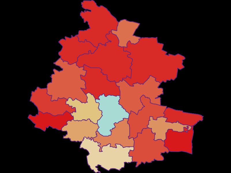 Демография с 1900 года в Horn