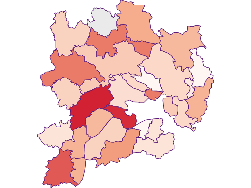 Activity rate in Krems(Land)