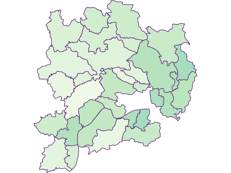 Share of foreigners in Krems(Land)