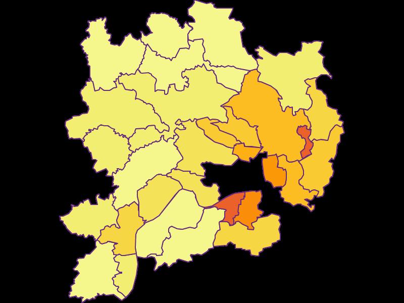 Population density in Krems(Land)