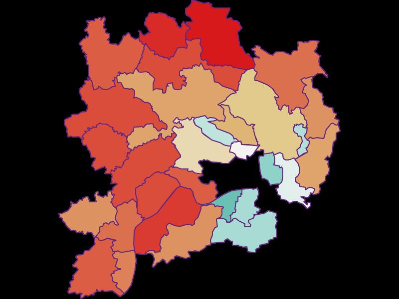 Population development since 1869 in Krems(Land)