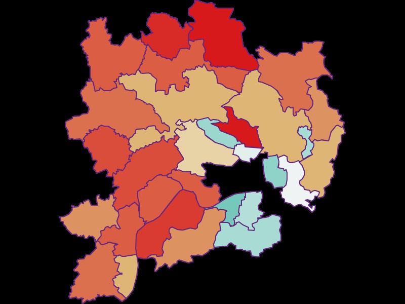 Population development since 1900 in Krems(Land)