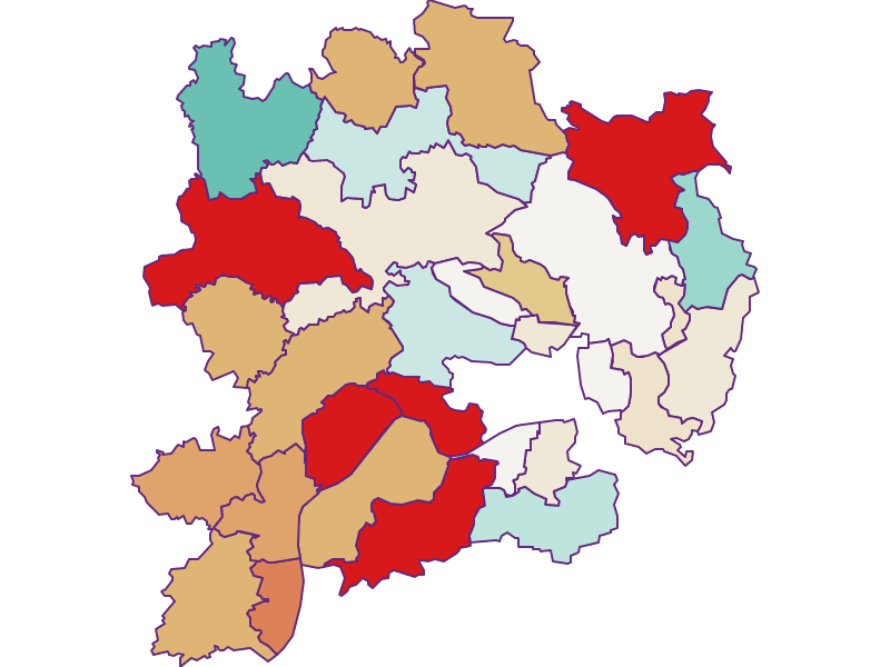 Population development since 2011 in Krems(Land)