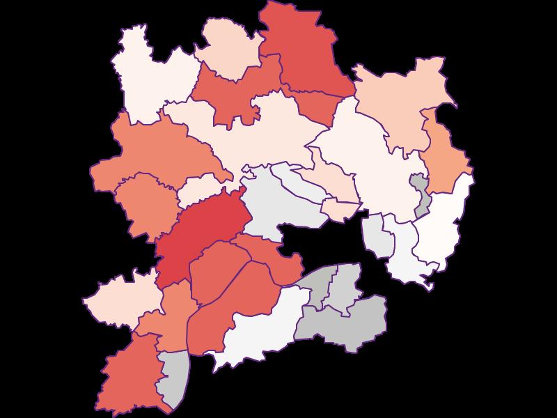 Farmers (comparison to Austria) in Krems(Land)