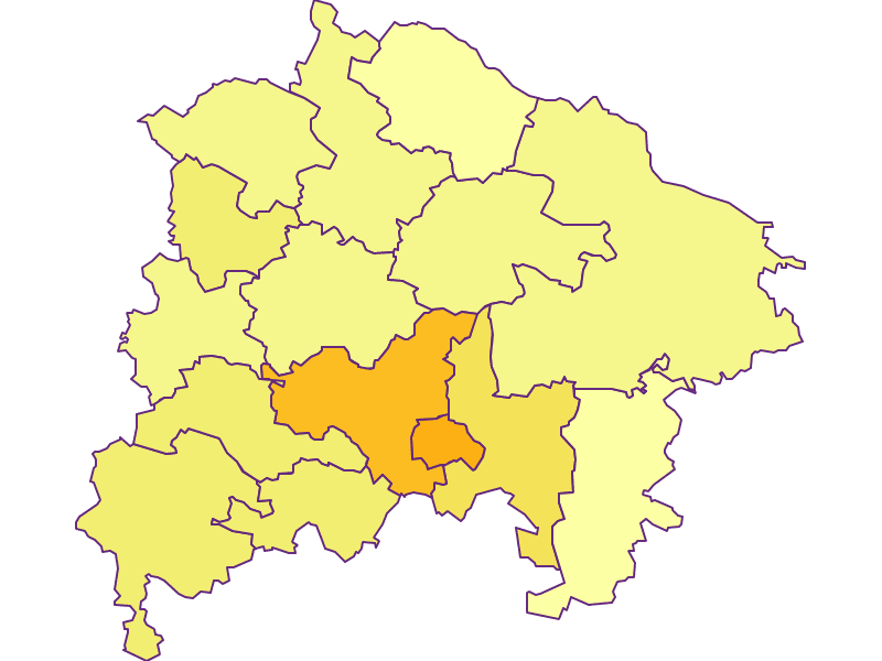Population density in Waidhofen an der Thaya