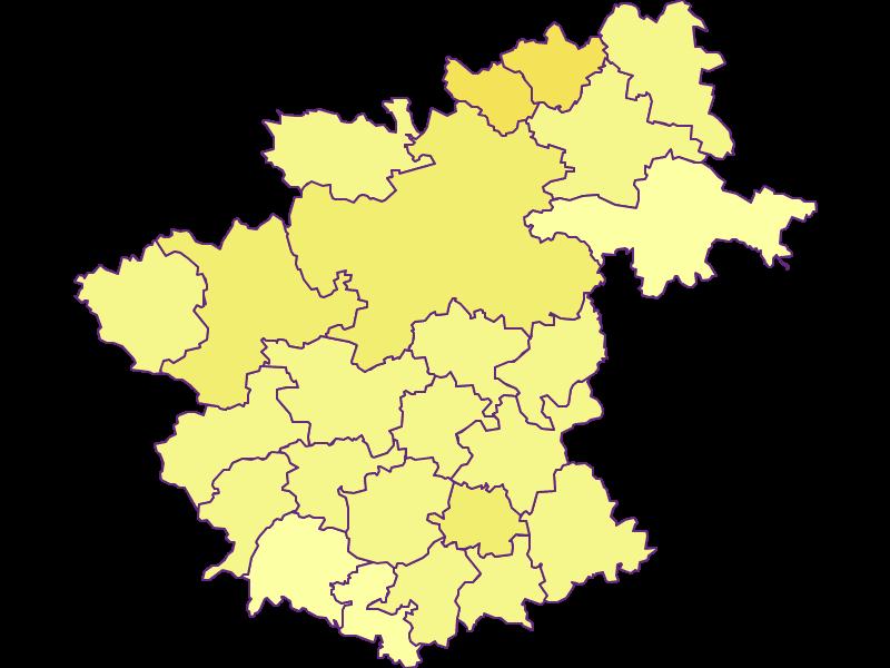 Плотность населения в Zwettl