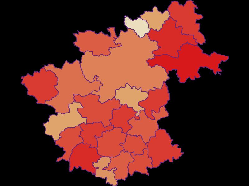 Демография с 1869 года в Zwettl