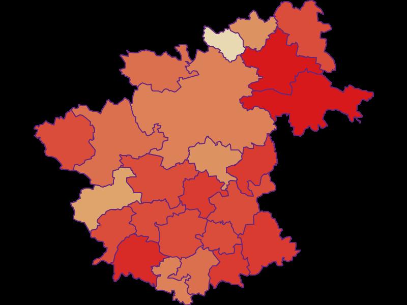 Демография с 1900 года в Zwettl