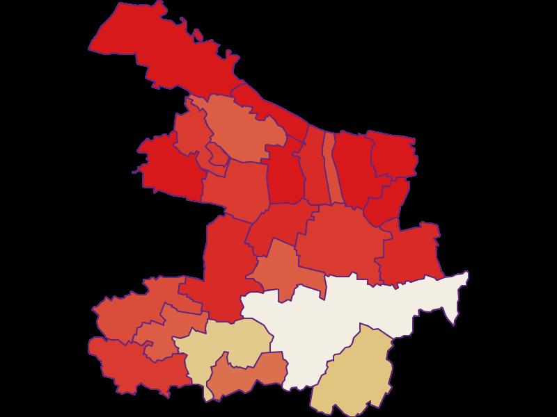 Population development since 1869 in Hollabrunn