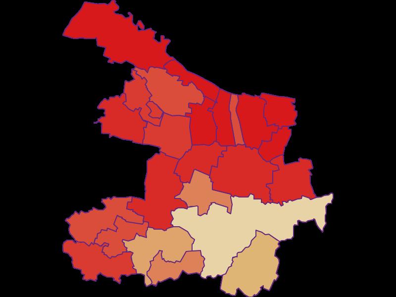 Population development since 1900 in Hollabrunn