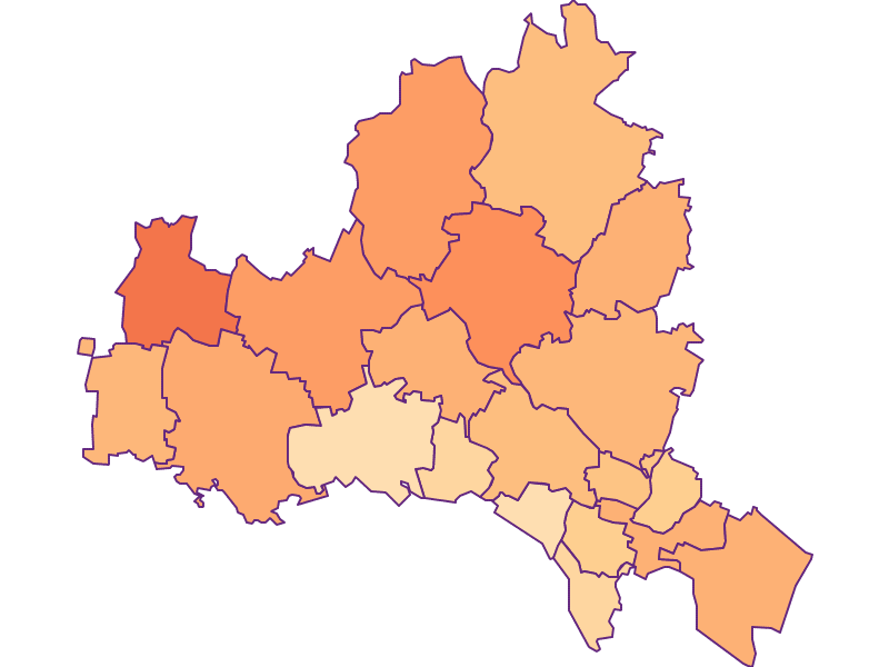Размер домохозяйства в Korneuburg