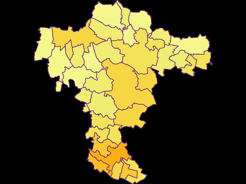 Плотность населения в Mistelbach