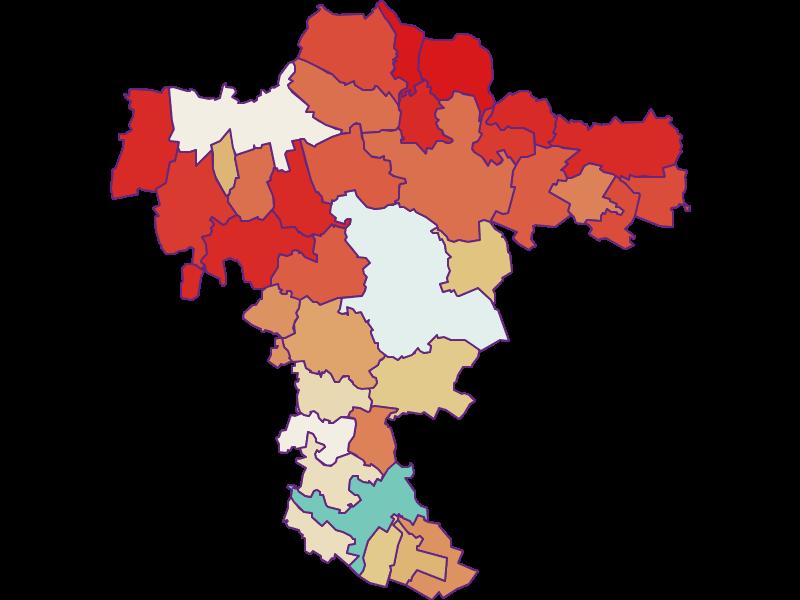 Демография с 1869 года в Mistelbach
