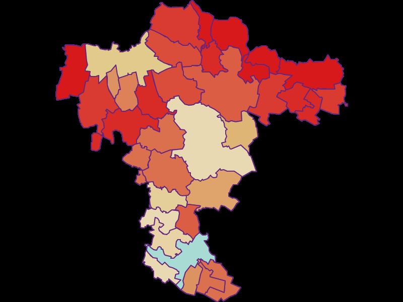 Демография с 1900 года в Mistelbach