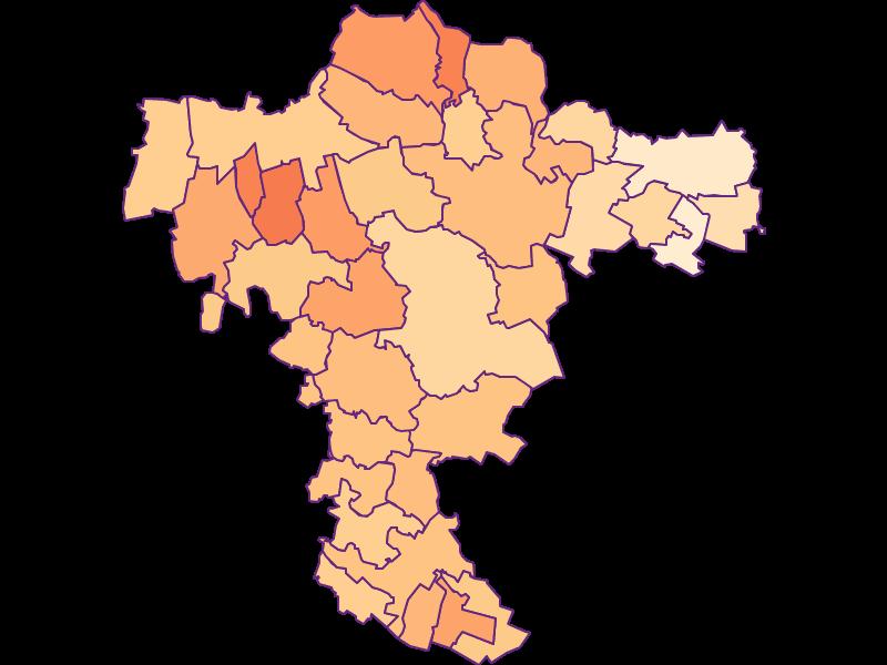 Размер домохозяйства в Mistelbach