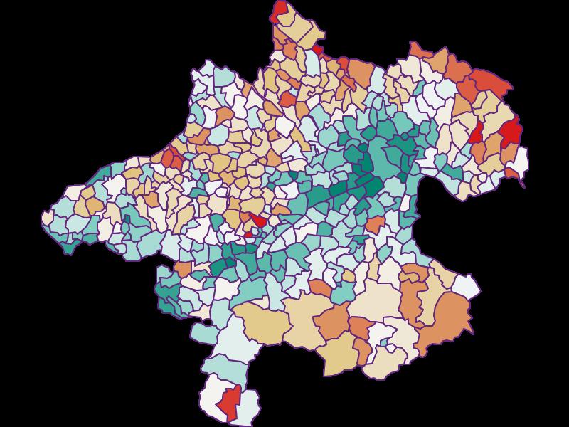 Bevölkerungsentwicklung seit 1900 in Oberösterreich