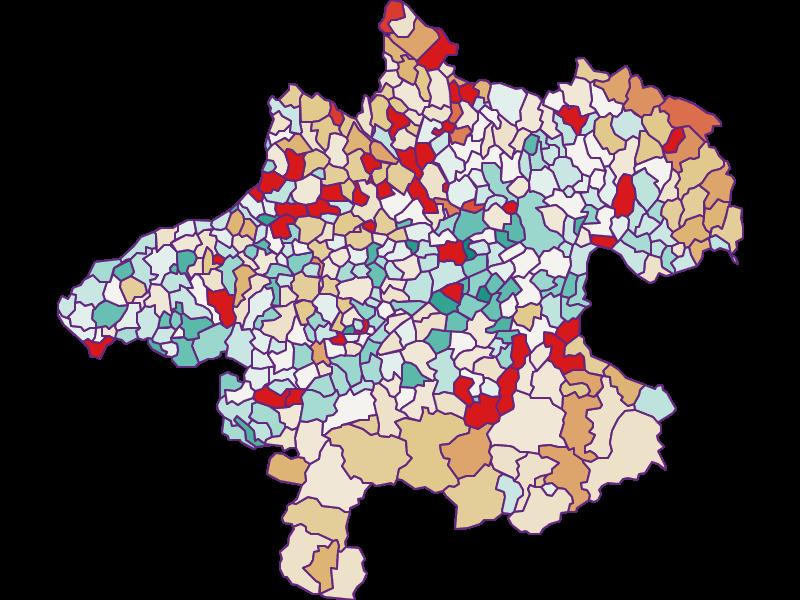 Bevölkerungsentwicklung seit 2011 in Oberösterreich