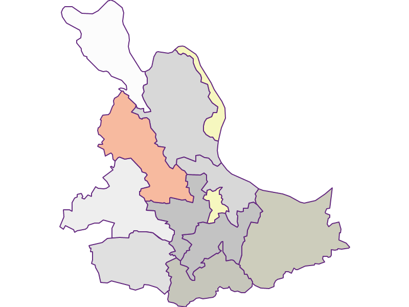 Farmers (comparison to federal state) in Eferding