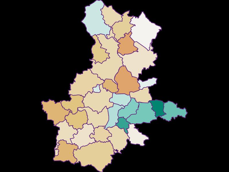 Population development since 1900 in Grieskirchen