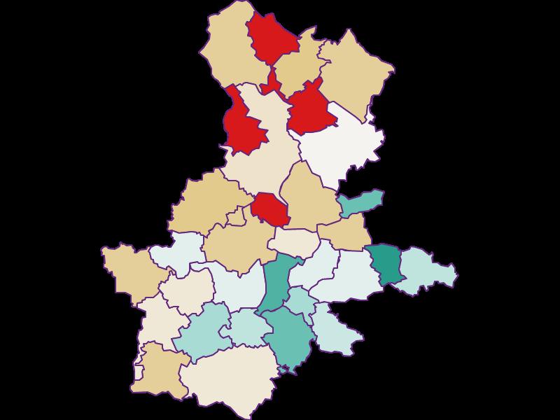 Population development since 2011 in Grieskirchen
