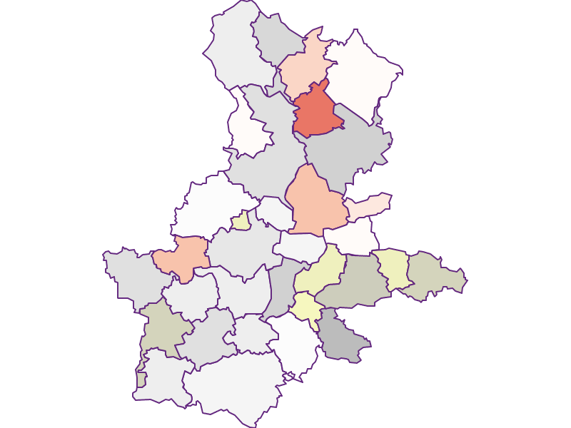 Farmers (comparison to federal state) in Grieskirchen