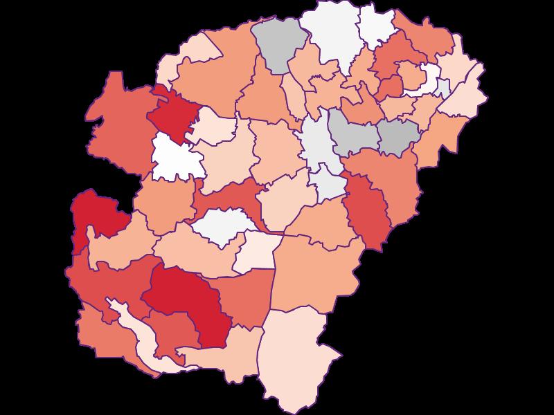 Activity rate in Vöcklabruck
