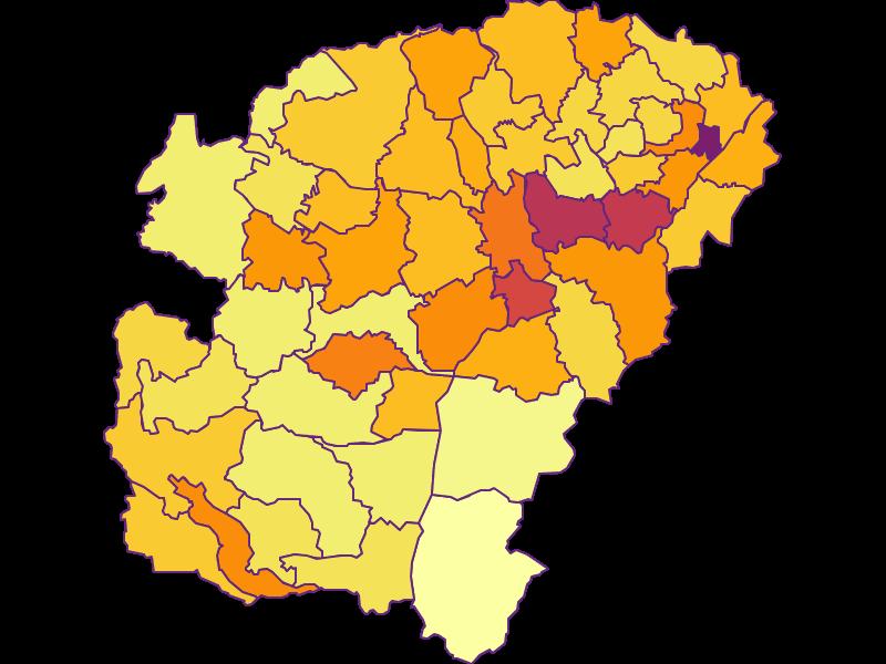 Population density in Vöcklabruck