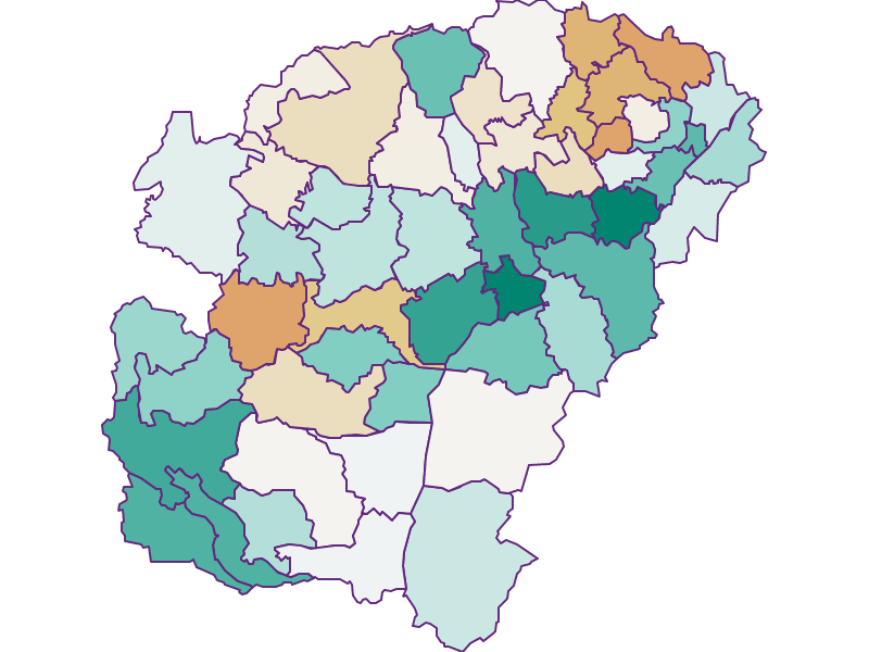 Population development since 1869 in Vöcklabruck