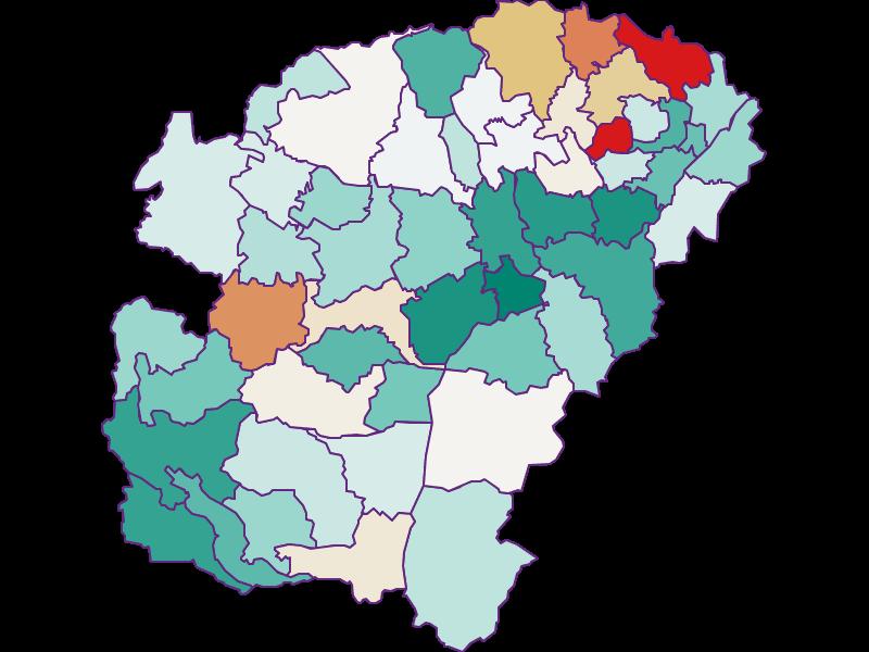 Population development since 1900 in Vöcklabruck