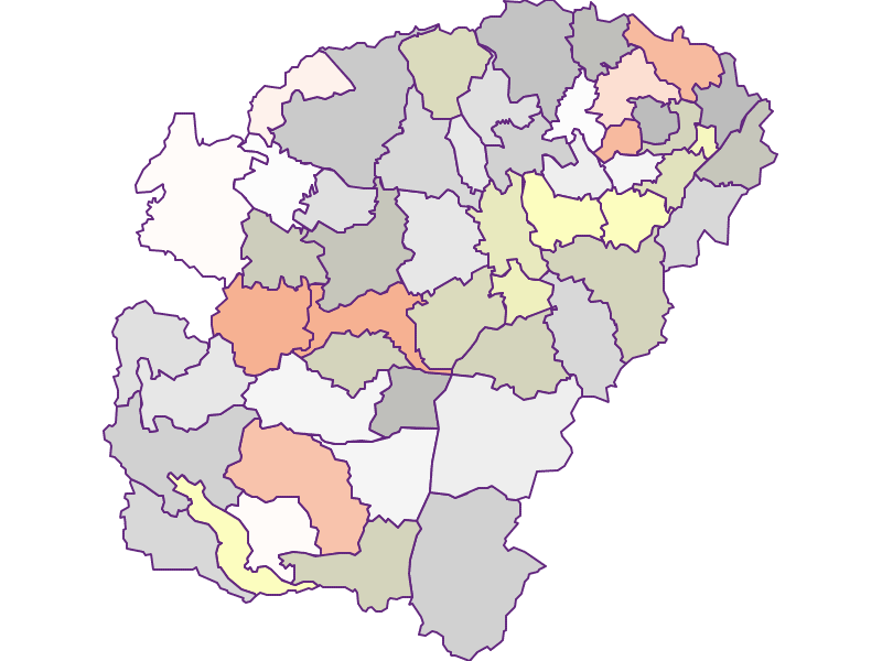 Farmers (comparison to federal state) in Vöcklabruck