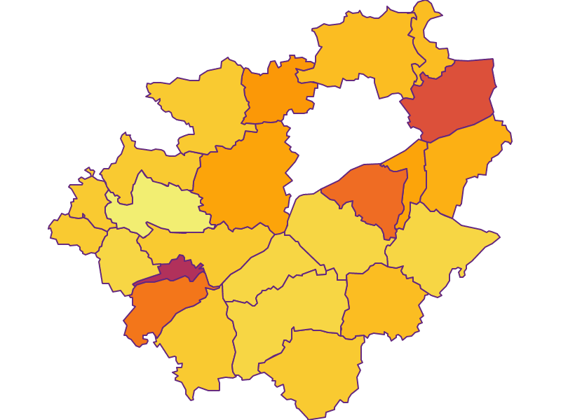 Плотность населения в Wels-Land