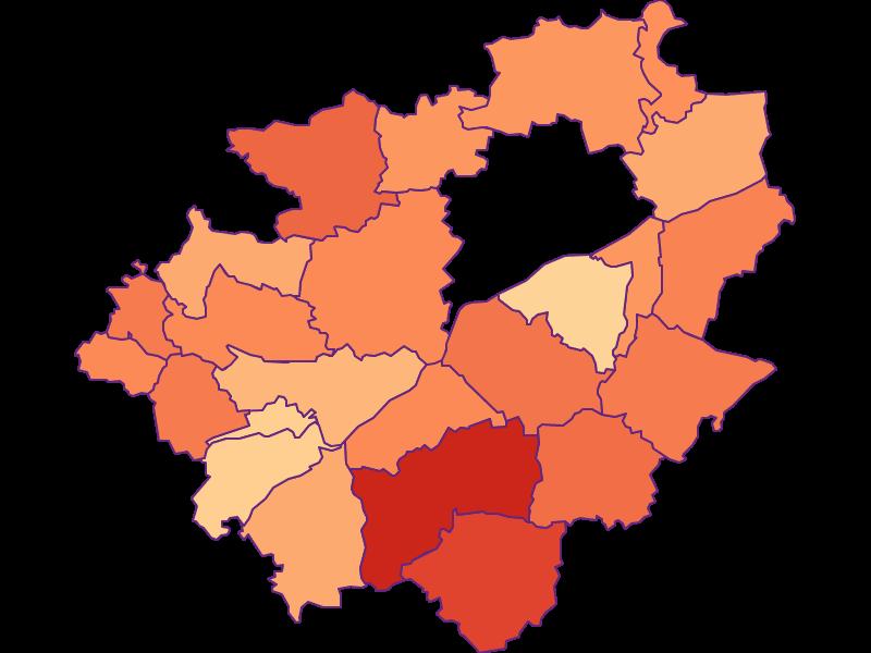 Размер домохозяйства в Wels-Land