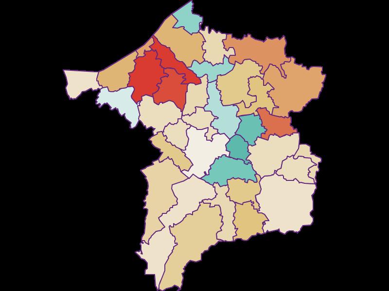 Population development since 1869 in Ried im Innkreis