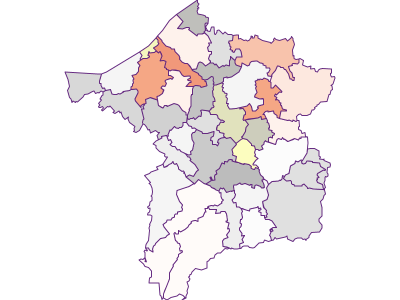 Farmers (comparison to federal state) in Ried im Innkreis
