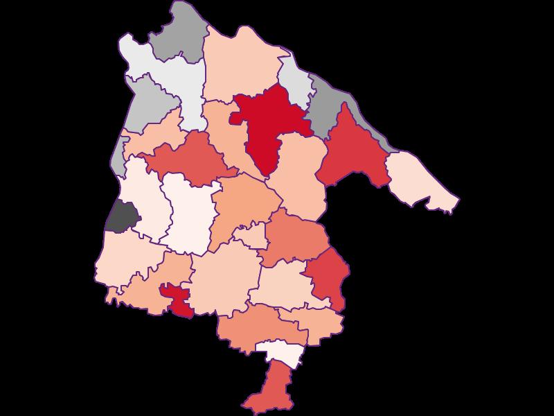 Activity rate in Schärding